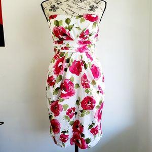 Floral Strapless Wrap Dress